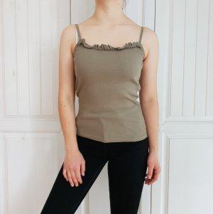 Esprit Top Tanktop Kaki khaki M grün T-Shirt Tshirt Shirt Bluse Hemd Pulli Pullover