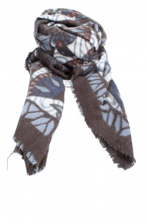 Esprit Traditional Scarf brown-blue abstract pattern casual look