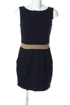 Esprit Trägerkleid schwarz-creme Business-Look