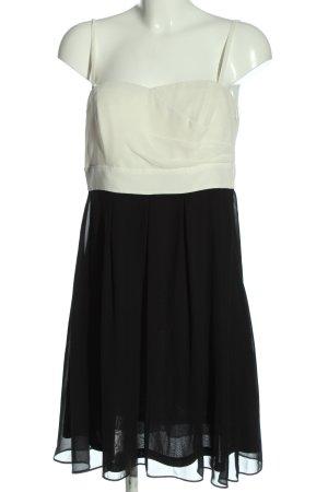 Esprit Trägerkleid weiß-schwarz Casual-Look