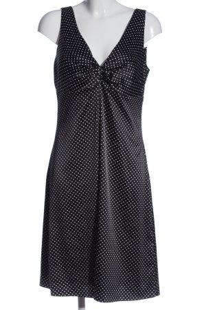 Esprit Trägerkleid schwarz-weiß Punktemuster Casual-Look