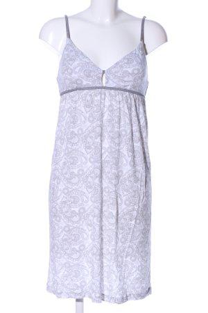 Esprit Trägerkleid weiß-hellgrau abstraktes Muster Casual-Look