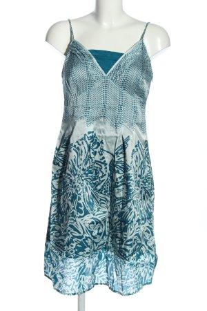 Esprit Trägerkleid blau-weiß abstraktes Muster Casual-Look