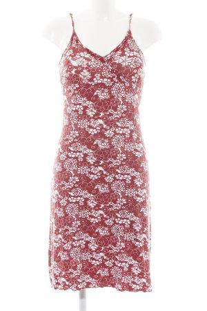 Esprit Vestido tipo overol rojo-blanco estampado floral look casual