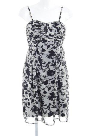 Esprit Trägerkleid schwarz-creme Blumenmuster Casual-Look