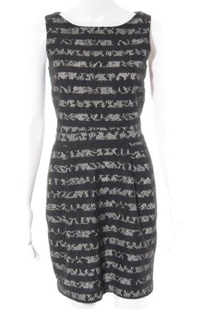 Esprit Trägerkleid schwarz-hellbeige Streifenmuster Elegant