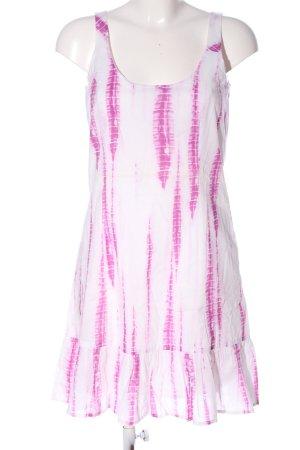Esprit Trägerkleid weiß-pink grafisches Muster Casual-Look