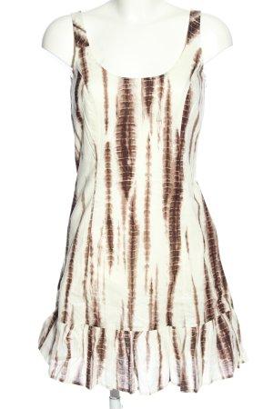 Esprit Trägerkleid wollweiß-braun abstraktes Muster Casual-Look
