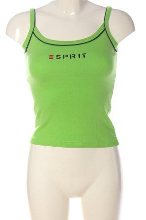 Esprit Top met spaghettibandjes groen gedrukte letters casual uitstraling
