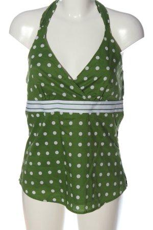 Esprit Trägertop grün-weiß Punktemuster Casual-Look