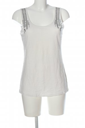 Esprit Trägertop weiß-silberfarben Punktemuster Casual-Look