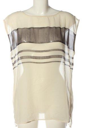 Esprit Blouse transparente crème-gris clair motif rayé style décontracté