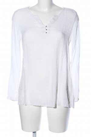 Esprit Transparenz-Bluse weiß Casual-Look