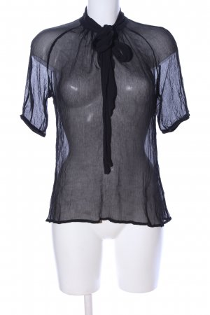 Esprit Transparenz-Bluse schwarz Business-Look