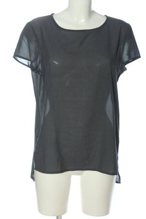 Esprit Transparenz-Bluse schwarz Casual-Look