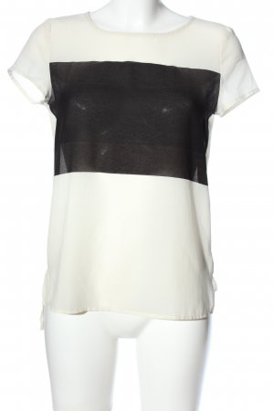 Esprit Transparenz-Bluse wollweiß-schwarz Casual-Look