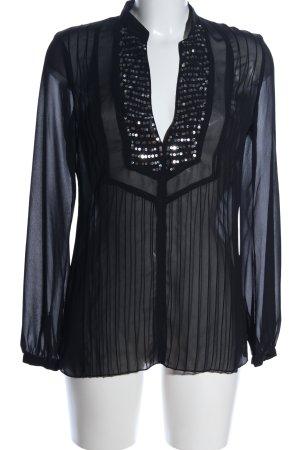 Esprit Transparenz-Bluse schwarz Elegant