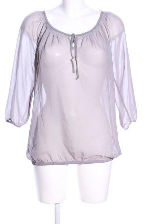 Esprit Transparenz-Bluse lila Casual-Look