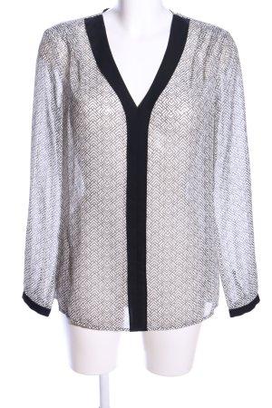 Esprit Transparenz-Bluse Allover-Druck Casual-Look