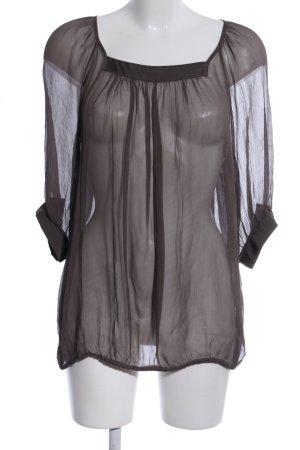 Esprit Transparenz-Bluse braun Casual-Look