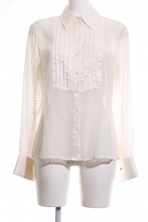 Esprit Transparenz-Bluse creme Business-Look