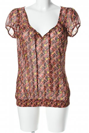 Esprit Transparenz-Bluse grafisches Muster Casual-Look