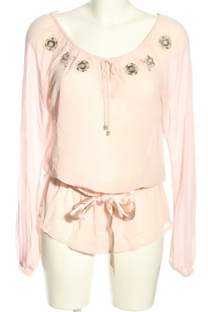 Esprit Transparenz-Bluse pink Casual-Look