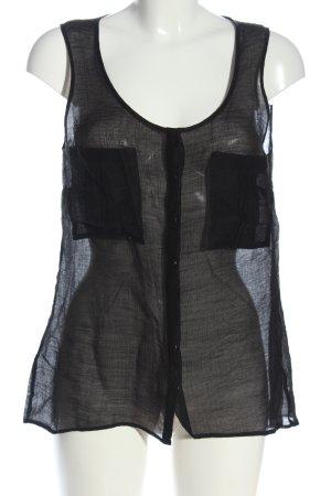 Esprit Transparenz-Bluse schwarz extravaganter Stil