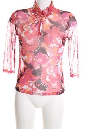 Esprit Transparenz-Bluse abstraktes Muster Business-Look