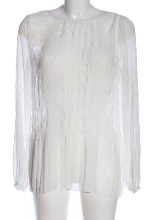 Esprit Transparenz-Bluse weiß Elegant