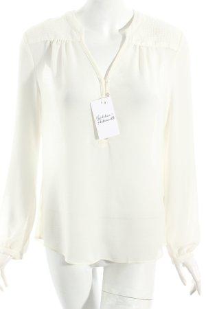Esprit Transparenz-Bluse wollweiß schlichter Stil