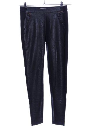 Esprit Treggingsy niebieski-czarny Zwierzęcy wzór W stylu casual