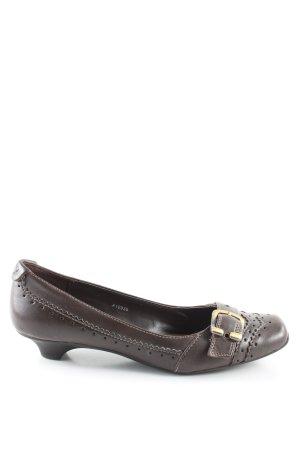 Esprit Loafers brown wet-look