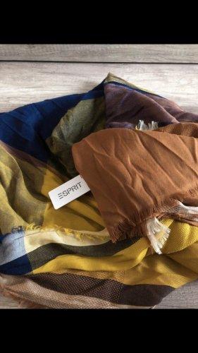 Esprit Écharpe d'été bleu acier-orange doré