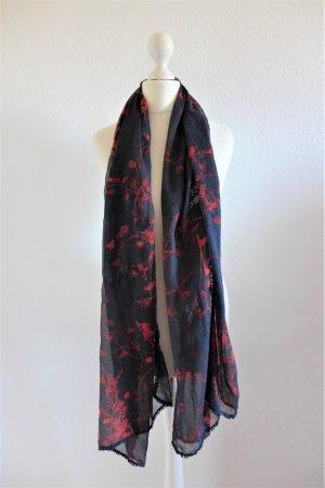 Esprit Tuch Schal schwarz rot weiß LOVE & LIVE zart