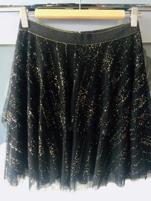 Esprit Falda de tul negro-color oro