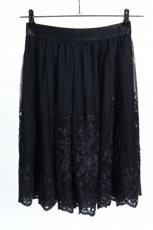Esprit Tulle Skirt black flower pattern casual look