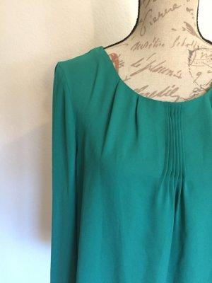 Esprit Tunika Bluse Chiffon smaragd grün Gr. 38