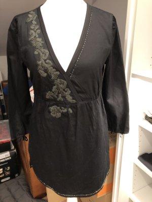 Esprit Tunika-Bluse, schwarz, Größe 32, neu