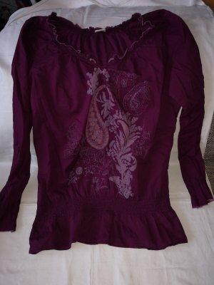 Esprit Shirt Tunic purple cotton