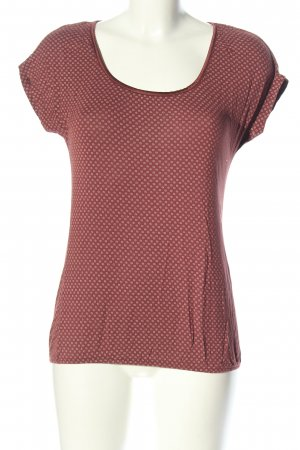 Esprit Tunikabluse rot-weiß Allover-Druck Casual-Look