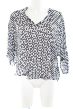 Esprit Tunikabluse schwarz-weiß Allover-Druck Casual-Look