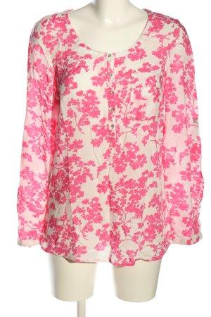Esprit Tunikabluse weiß-pink Allover-Druck Casual-Look