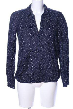 Esprit Tunikabluse blau-weiß Punktemuster Casual-Look