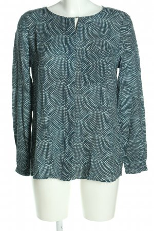 Esprit Tunic Blouse turquoise abstract pattern business style
