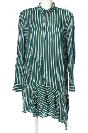 Esprit Tunikakleid grün-weiß Allover-Druck Business-Look