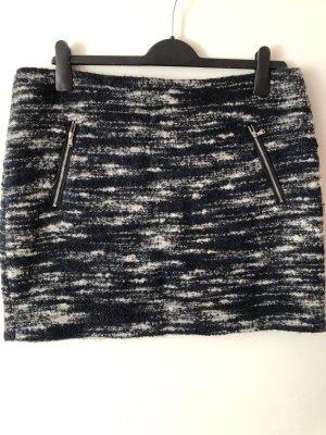 Edc Esprit Tweed Skirt white-dark blue