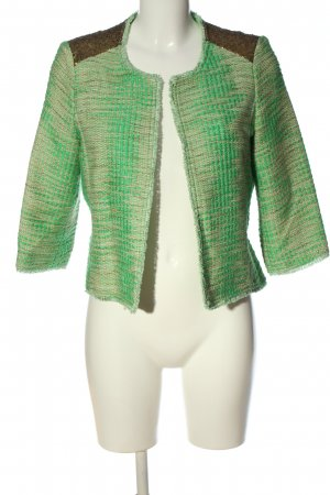Esprit Blazer in tweed verde-marrone puntinato stile casual
