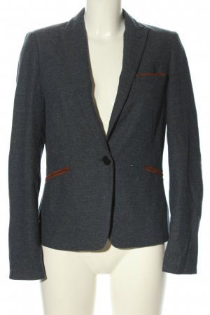 Esprit Blazer en tweed gris clair-brun moucheté style décontracté