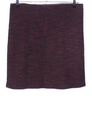 Esprit Tweed rok rood-zwart gestippeld casual uitstraling